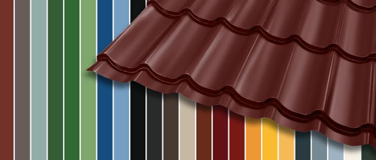 Peltikattojen värimallisto